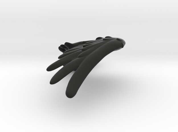 Hollow Wing Left in Black Natural Versatile Plastic