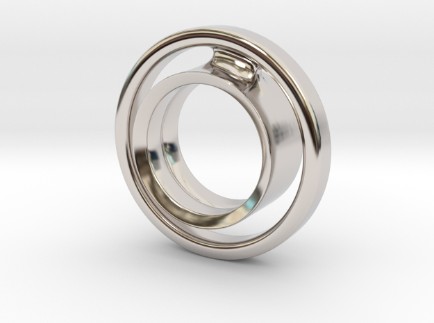 keep it 100 in Rhodium Plated Brass