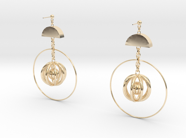 Mind in 14k Gold Plated Brass: Small