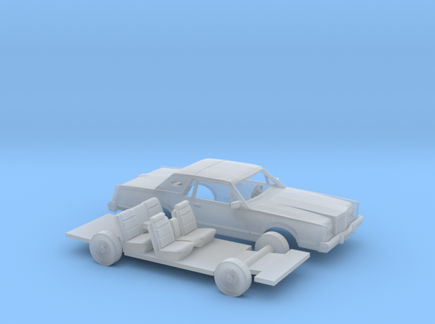 1/160 1980-83 Lincoln Mark VI Kit in Smooth Fine Detail Plastic