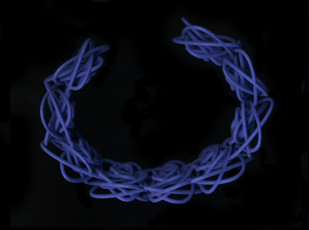 Sprouted Spirals Cuff (Neat) 3d printed