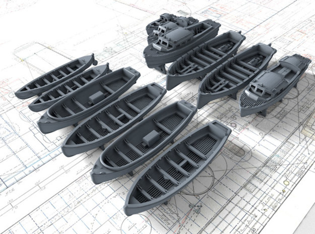 1/700 Scale HMS Victorious Boat Set in Smoothest Fine Detail Plastic