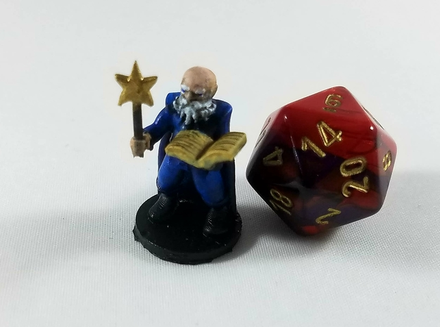 Gnome Conjurer Wizard in Smooth Fine Detail Plastic