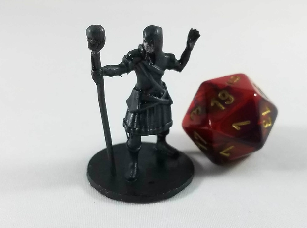 Human Necromancy Wizard in Smooth Fine Detail Plastic