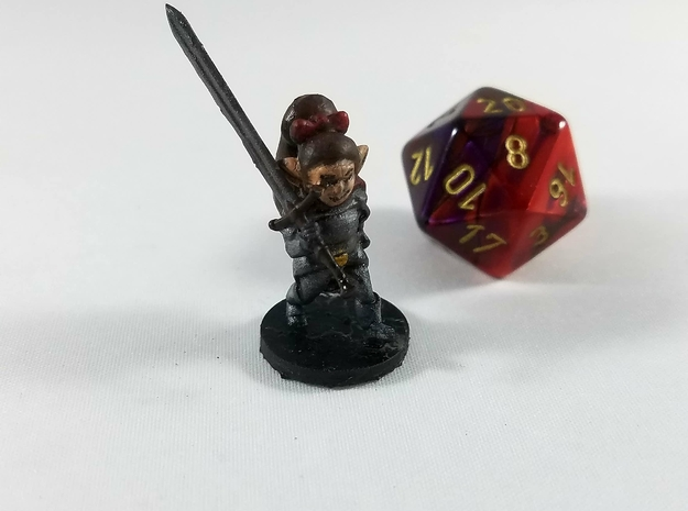 Halfling Female Warlord in Smooth Fine Detail Plastic