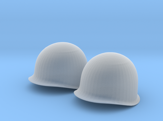 1/4 Scale M1 Helmet and Liner in Smooth Fine Detail Plastic