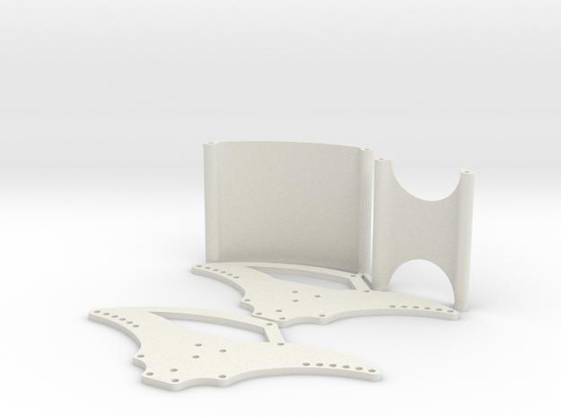 Basher Rocksta 2mm Spider Chassis V2 in White Natural Versatile Plastic