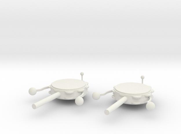 Tambourine earrings in White Natural Versatile Plastic