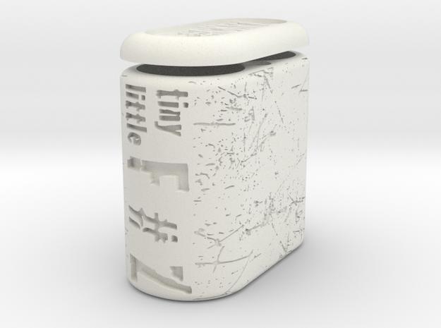 TLF# - Battery Case - 18350 in White Natural Versatile Plastic