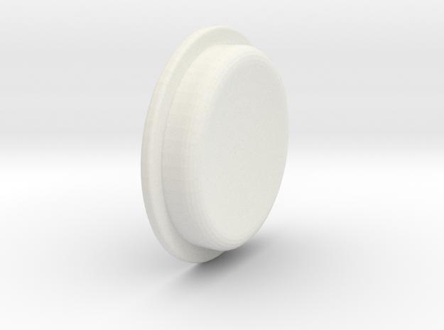 TBF# - 21700 - Button in White Natural Versatile Plastic