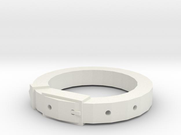 Belt in White Natural Versatile Plastic: 2.25 / 42.125