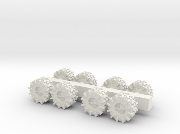 ATV 1 to 285 Spare tire spur in White Natural Versatile Plastic