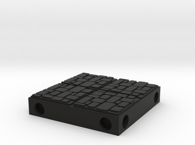 ET Dungeon Tile in Black Natural Versatile Plastic