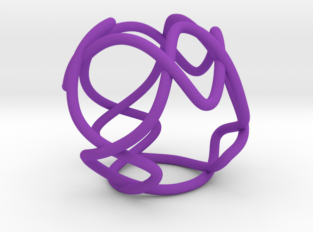 Link with Tetrahedral Symmetry in Purple Processed Versatile Plastic