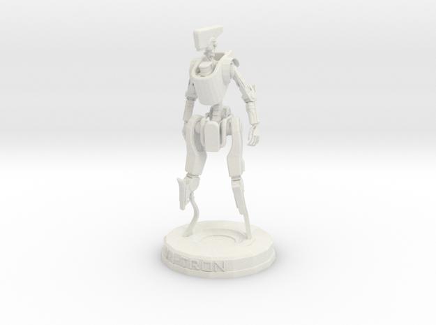 V-I-TRON Statuette in White Natural Versatile Plastic