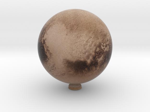 "Pluto /12"" Earth globe addon in Natural Full Color Sandstone"