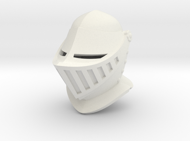 Closed Helm (Full) in White Natural Versatile Plastic: Small