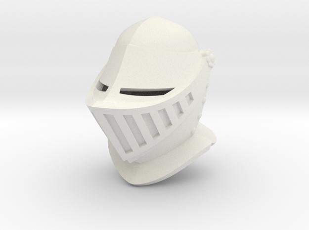 Closed Helm (Full) in White Natural Versatile Plastic: Small