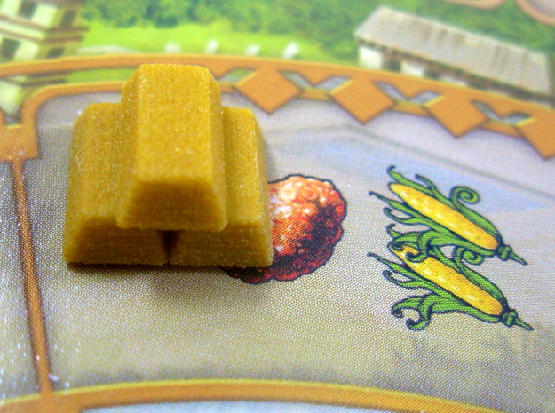 Gold Replacements for Tzolk'in, Set of 30 3d printed Full Color Sandstone picture on the board.