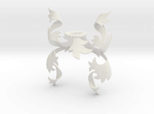 Fancy Mantling (Asymmetrical) in White Natural Versatile Plastic: Small