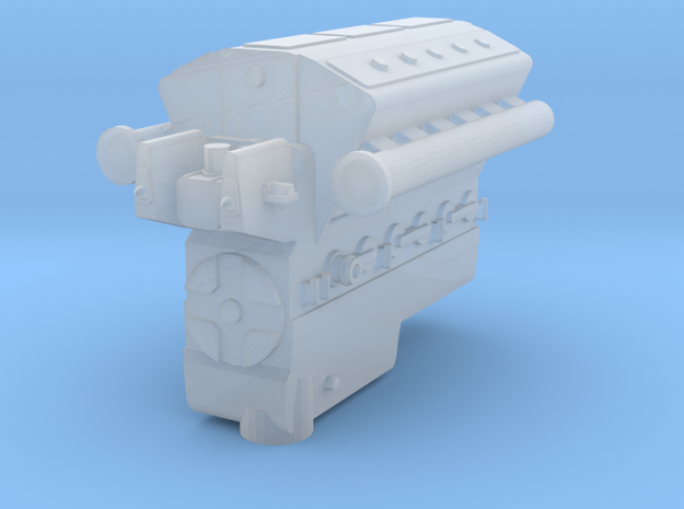 Loco engine in Smooth Fine Detail Plastic