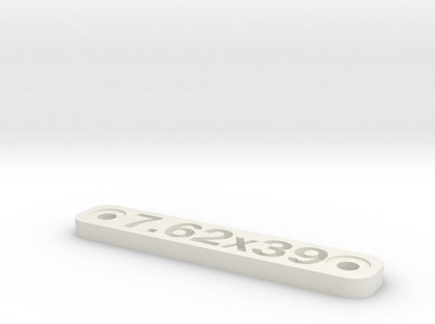 Caliber Marker - MLOK - 7.62x39 in White Natural Versatile Plastic
