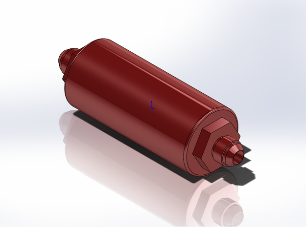 1/8 Scale Aeromotive Fuel Filter in Smoothest Fine Detail Plastic