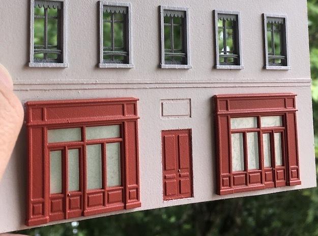 1:87 Devanture - Storefront (x2) S in Smooth Fine Detail Plastic