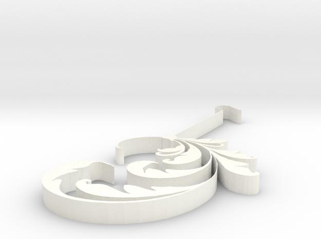 Black earing in White Processed Versatile Plastic