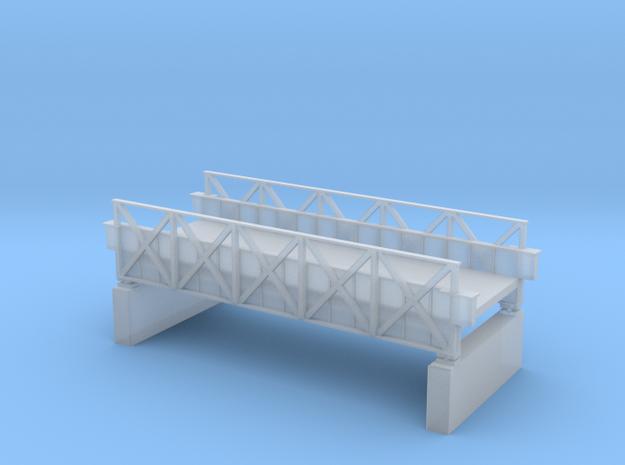 Skewed Bridge in Smooth Fine Detail Plastic
