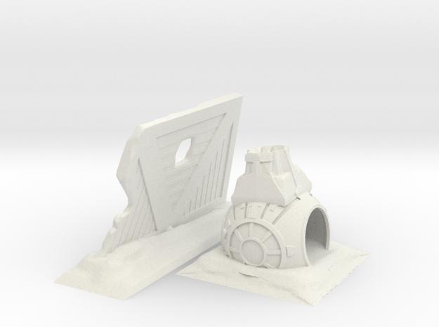 Crash Tie Set free download in White Natural Versatile Plastic