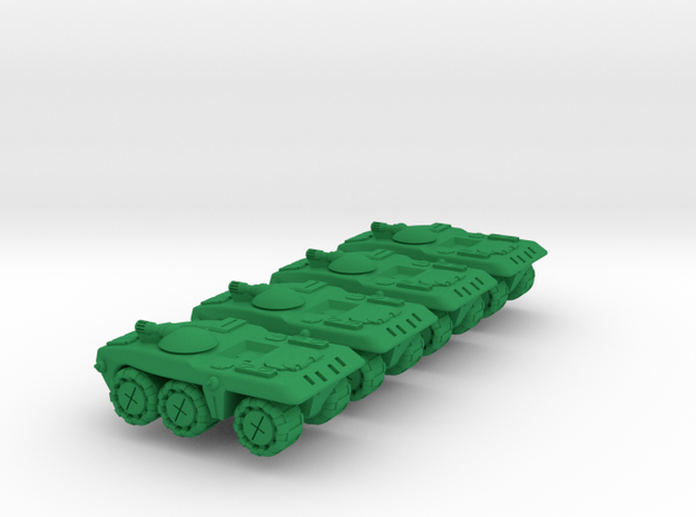 Berretta Medium Wheeled Armor - 3mm in Green Processed Versatile Plastic