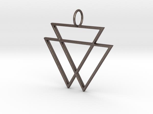 VAMPYRE Steel Pendant in Polished Bronzed-Silver Steel