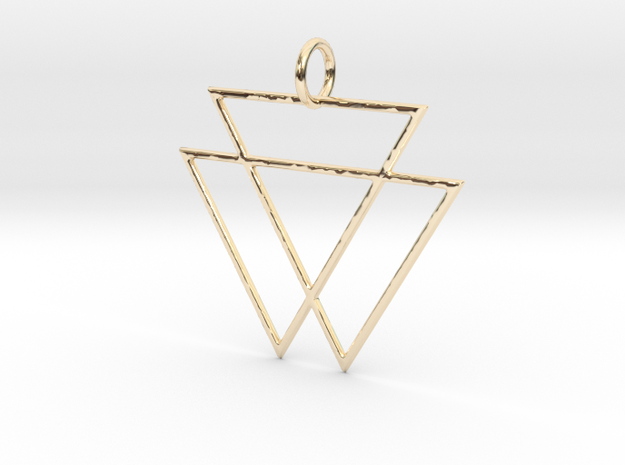 VAMPYRE Gold Pendant in 14K Yellow Gold