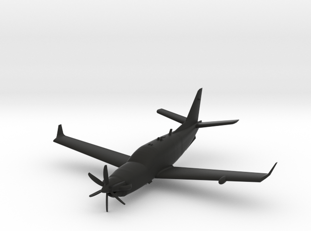 Socata TBM 900 in Black Natural Versatile Plastic: 1:72