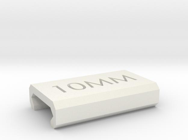 Caliber Marker - Picatinny - 10mm in White Natural Versatile Plastic