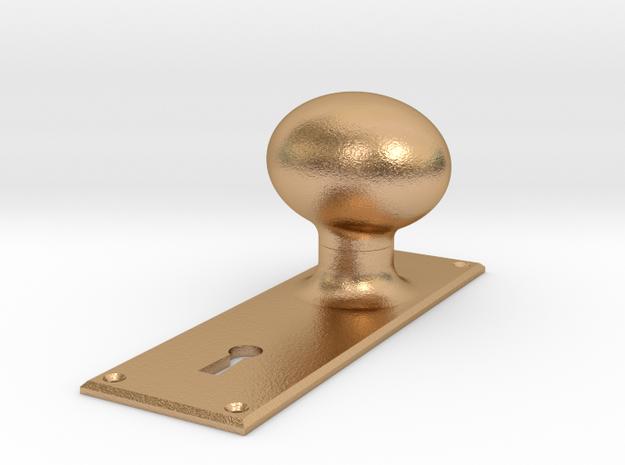 GE Cab Door Knob and Plate in Natural Bronze