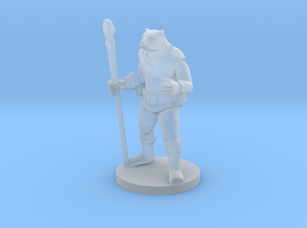Bearfolk Magic Caster in Smooth Fine Detail Plastic