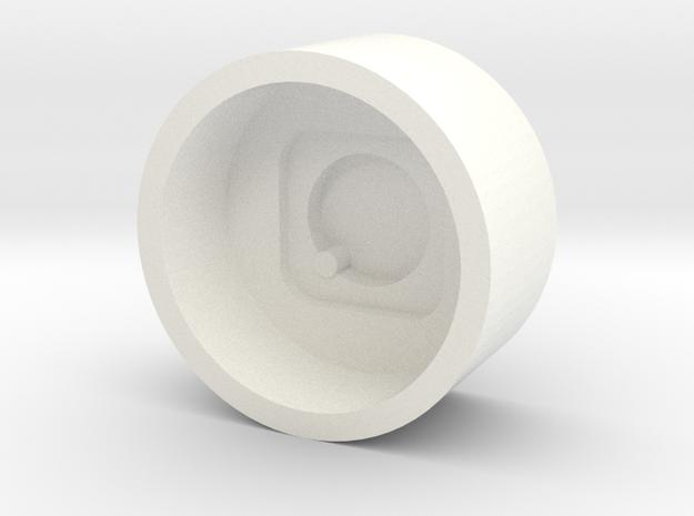 Gridbox Holder for CP3 in White Processed Versatile Plastic