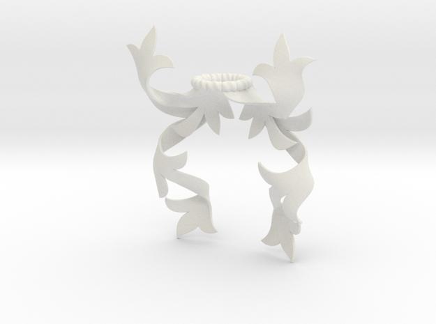 Modern Mantling (Symmetrical) in White Natural Versatile Plastic: Small