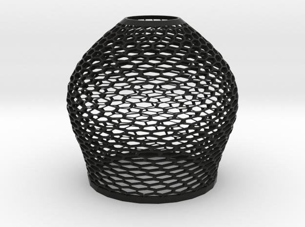 lampshade in Black Natural Versatile Plastic: Medium