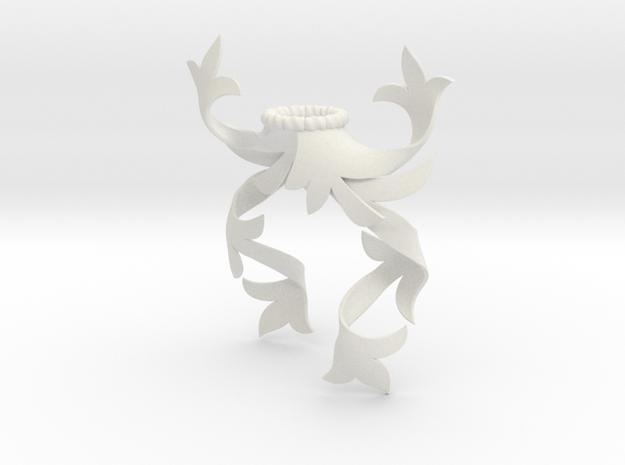 Modern Mantling (Asymmetrical) in White Natural Versatile Plastic: Small