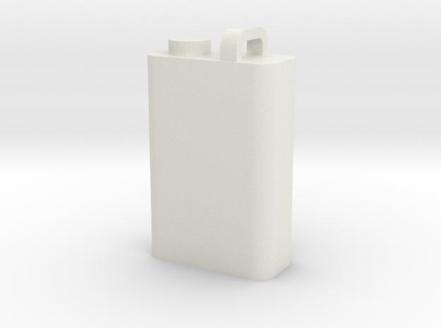 Vintage Oil Bottle / Can in White Natural Versatile Plastic
