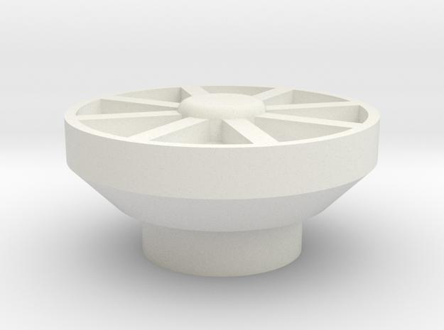 1:10 Scale Subwoofer speaker in White Natural Versatile Plastic