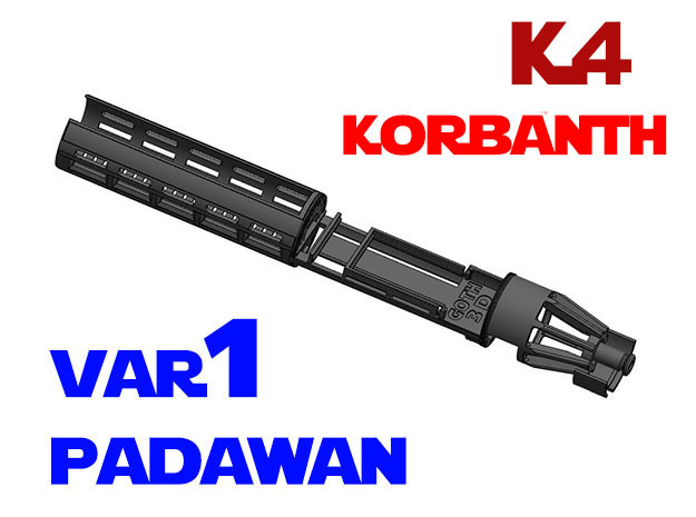 Korbanth / Parks K4 - Padawan All.In.One Var1 in White Natural Versatile Plastic