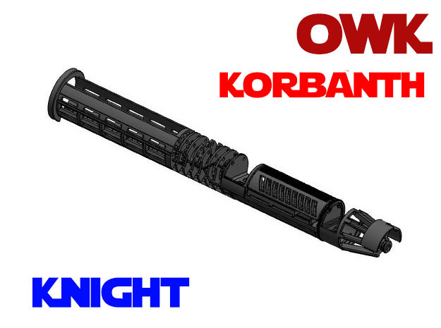 Korbanth / Parks OWK - Knight Chassis in White Natural Versatile Plastic