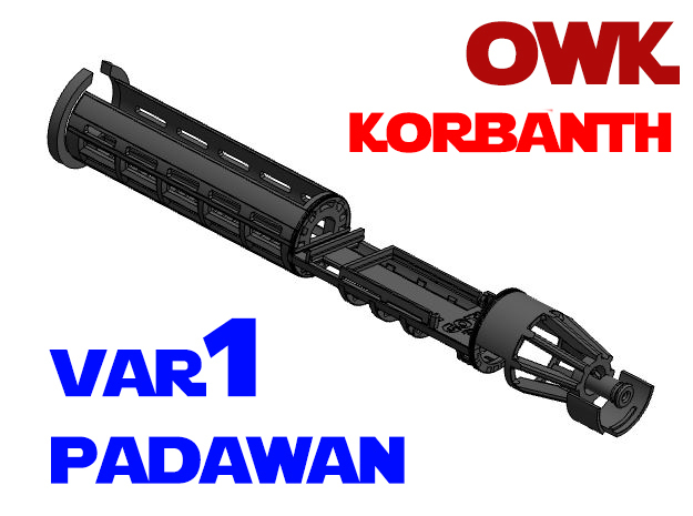 Korbanth / Parks OWK - Padawan All.In.One Var1 in White Natural Versatile Plastic