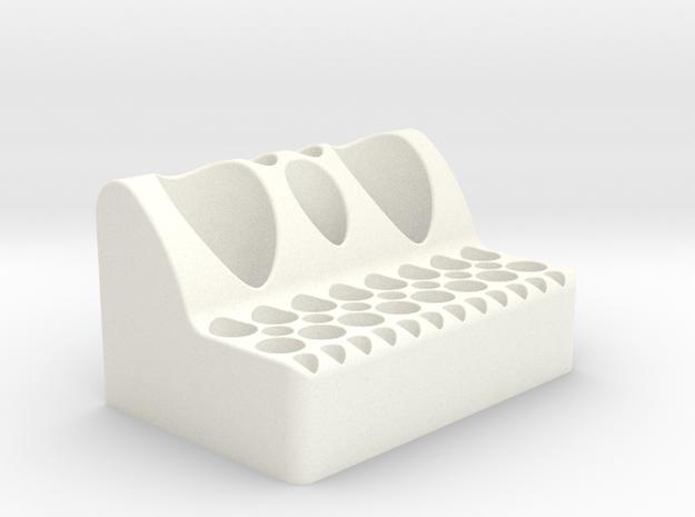 Pipette, Falcon and Eppendorf Tube holder in White Processed Versatile Plastic