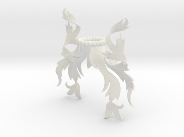 Rustic Mantling (Asymmetrical) in White Natural Versatile Plastic: Small
