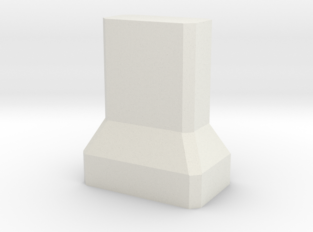 Motorway 2 Pillar 1:1000 scale in White Natural Versatile Plastic